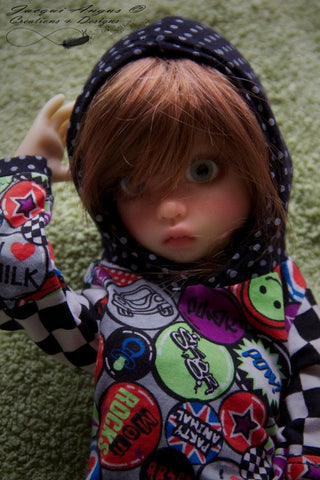 Colour Blocked Hoodie Pattern for MSD BJD Dolls