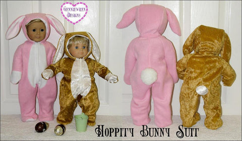 "Genniewren 18 Inch Modern Hoppity Easter Bunny Outift 18"" Doll Clothes Pattern Pixie Faire"