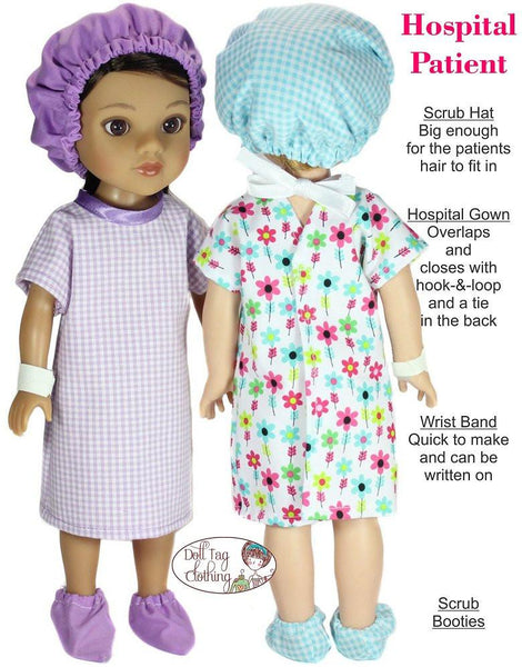 Doll Tag Clothing Hospital Patient 13 14 5 Quot Doll Clothes