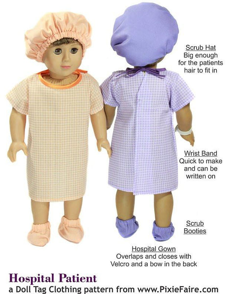 Hospital Patient 18 Inch Doll Clothes Pdf Pattern Download