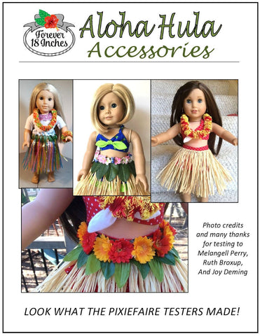 "Aloha Hula Accessories 18"" Doll Accessory Pattern"