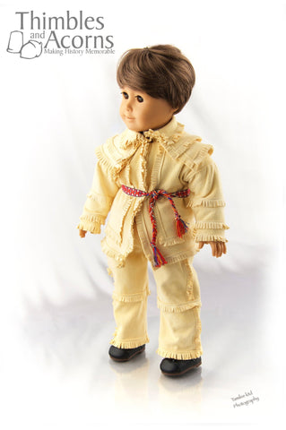 "18th Century Hunting Frock 18"" Doll Clothes Pattern"