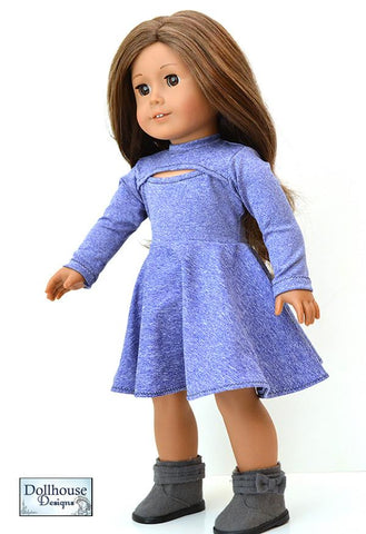 "IRL Dress and Top 18"" Doll Clothes Pattern"