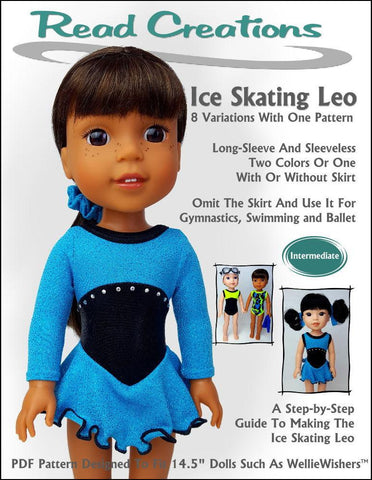 "Ice-Skating Leo 14.5"" Doll Clothes Pattern"