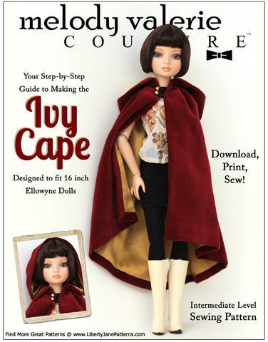 Ivy Cape for Ellowyne Dolls