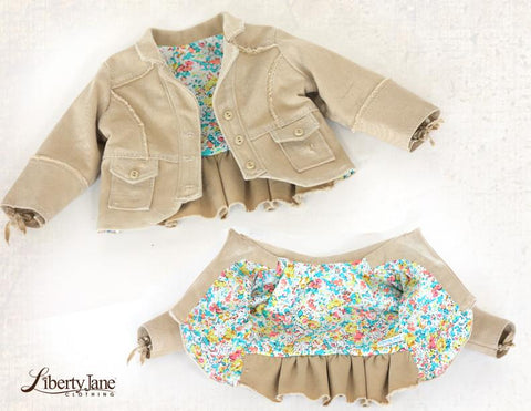 "Liberty Jane 18 Inch Modern Boomerit Falls Jacket 18"" Doll Clothes Pattern Pixie Faire"