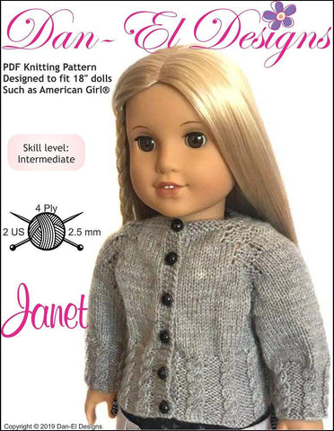 18 Inch Doll Knitting Patterns Pixie Faire