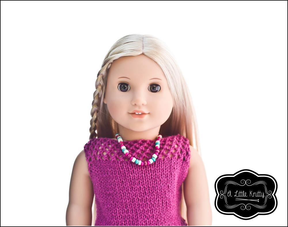 A Little Knitty Jessica Summer Sweater Doll Clothes Pattern 18 inch ...