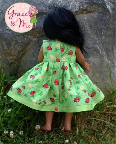 "Jody's Summer Frock 18"" Doll Clothes Pattern"