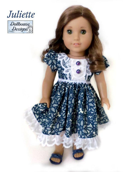 Dollhouse Designs Juliette Party Dress Doll Clothes