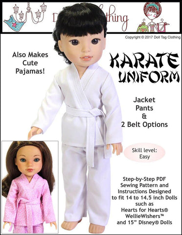 Doll Tag Clothing WellieWishers Karate Uniform for 14 to 14.5 Inch Dolls Pixie Faire