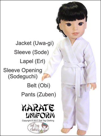 Karate Uniform for 14 to 14.5 Inch Dolls