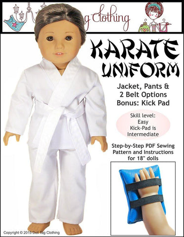 "Doll Tag Clothing 18 Inch Modern Karate Uniform 18"" Doll Clothes Pixie Faire"