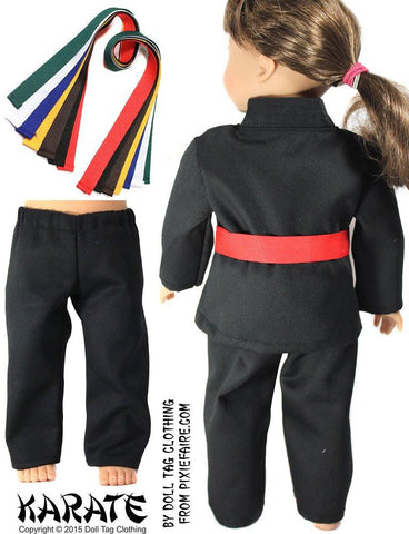 "Karate Uniform 18"" Doll Clothes"