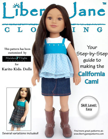 California Cami Pattern for Karito Kids Dolls