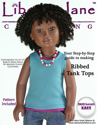 Liberty Jane Karito Kids Free Tank Top Pattern Karito Kids Dolls Pixie Faire