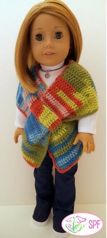 Crocheted Keyhole Wrap with 3 Options Crochet Pattern