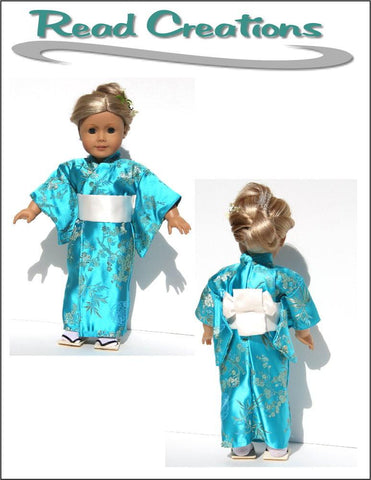 "Kimono / Bathrobe 18"" Doll Clothes Pattern"