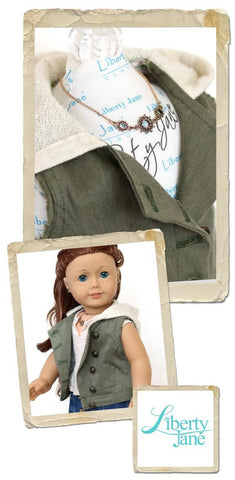 "Kings Canyon Hooded Moto Vest 18"" Doll Clothes Pattern"