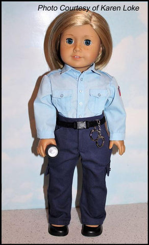 Law Enforcement Police SWAT Uniform 18 Inch doll costume Koski Kreations Sewing Pattern
