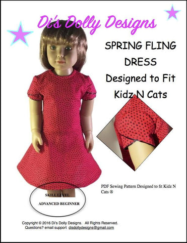 Spring Fling Dress Pattern for Kidz N Cats Dolls