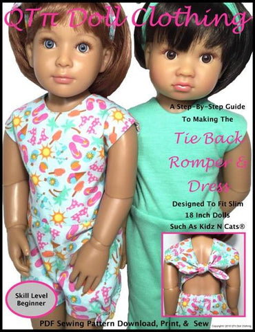 Tie Back Romper and Dress for Kidz N Cats Dolls