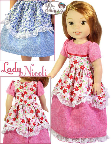 "Lady Nicoli 14.5"" Doll Clothes Pattern"