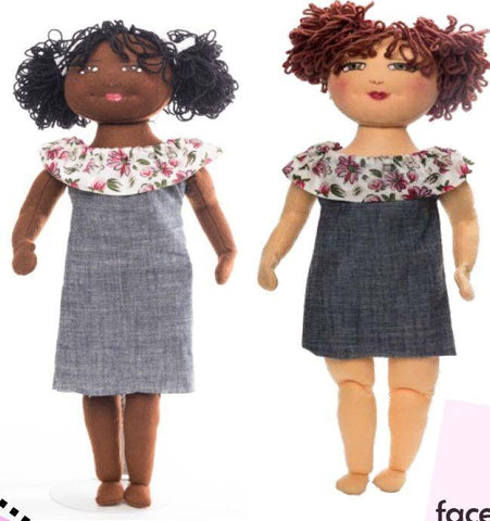 "D.I.Y. EveryGirl Simple Sewing 18"" Cloth Doll Pattern"