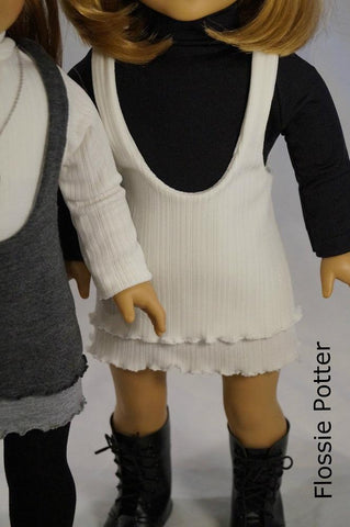 "Layered Lettuce Jumper 18"" Doll Clothes Pattern"
