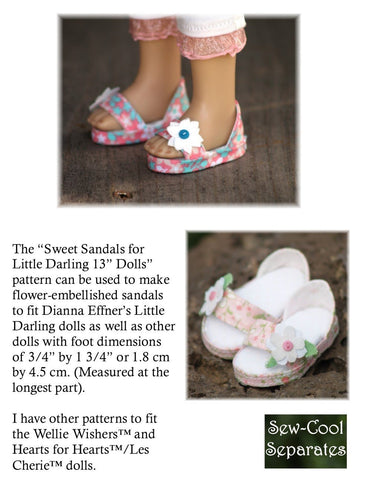 Sweet Sandals Pattern for Little Darling Dolls