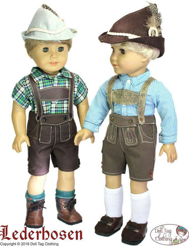 "Lederhosen 18"" Doll Clothes Pattern"