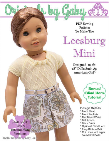 "Leesburg Mini Skirt 18"" Doll Clothes"