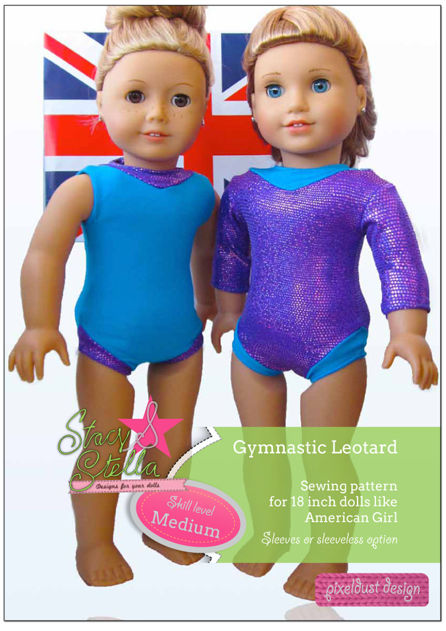 d18163c03dcb Gymnastic Leotard 18 inch Doll Clothes Pattern PDF Download
