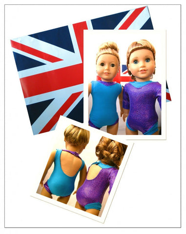 "Stacy and Stella 18 Inch Modern Gymnastic Leotard 18"" Doll Clothes Pattern Pixie Faire"