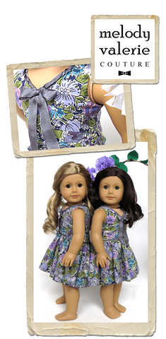 "Melody Valerie Couture 18 Inch Modern Lisianthus Dress 18"" Doll Clothes Pixie Faire"
