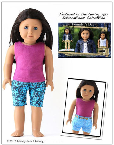 Liberty Jane capris 18 inch Doll Clothes Pattern