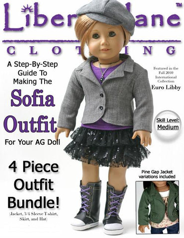 "Sofia Outfit 18"" Doll Clothes Pattern"