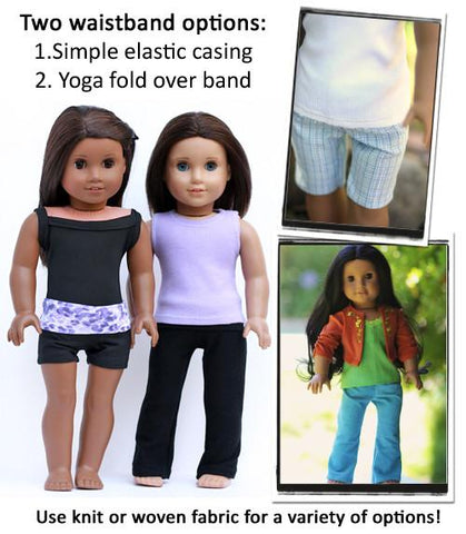 "Yoga Pants and Basic Pants 18"" Doll Clothes Pattern"