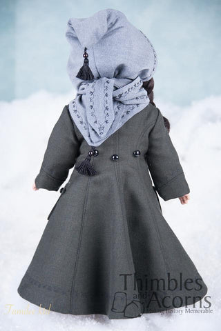 "The Long Winter Coat and Hood 18"" Doll Clothes Pattern"