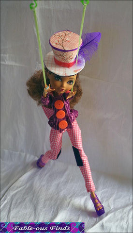 Mad Bazaar Jacket, Pants, and Top Hat Pattern for Ever After High Dolls