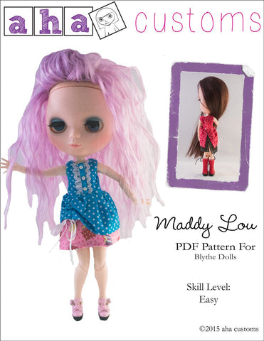 Maddy Lou Dress Pattern for Blythe Dolls