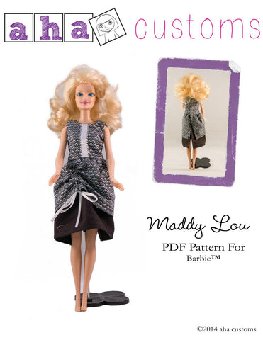 "Maddy Lou Dress Pattern for 11 1/2"" Fashion Dolls"