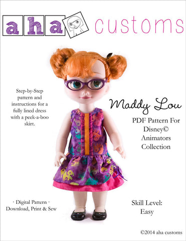 Maddy Lou Dress Pattern for Disney Animators' Dolls