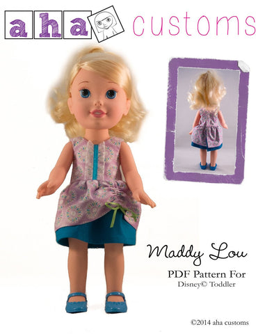Maddy Lou Dress Pattern for Disney Toddler Dolls