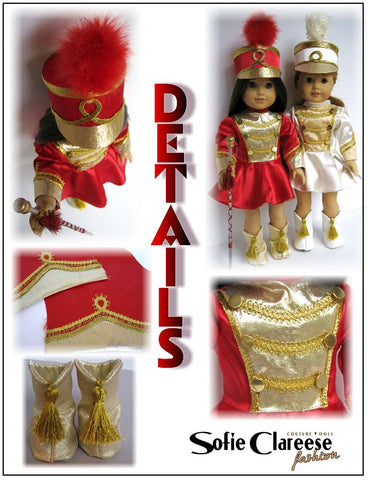 "Sofie's Majorette Set 18"" Doll Clothes"