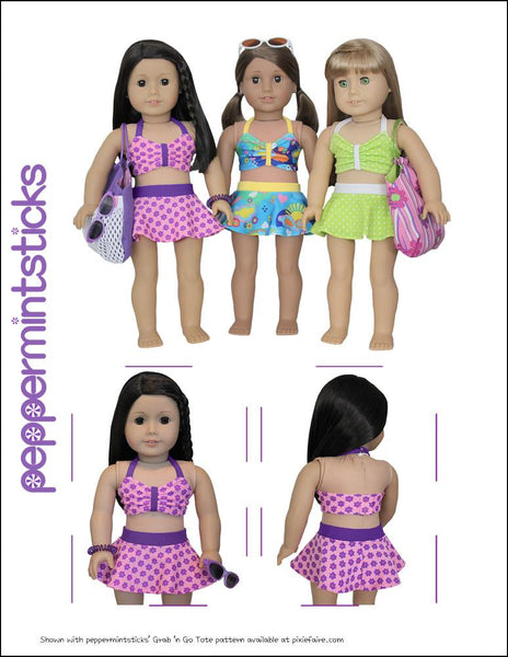 Making Waves Swimsuit 18 Inch Doll Clothes Pdf Pattern