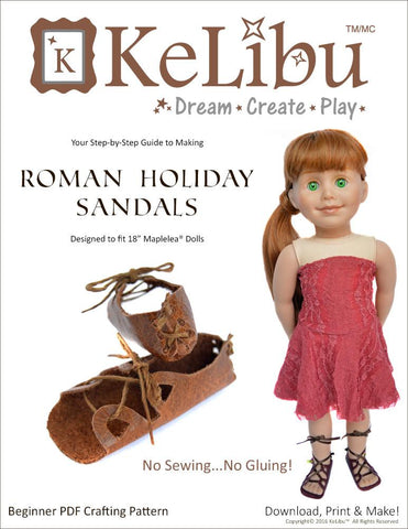 Roman Holiday Sandals for Maplelea Dolls