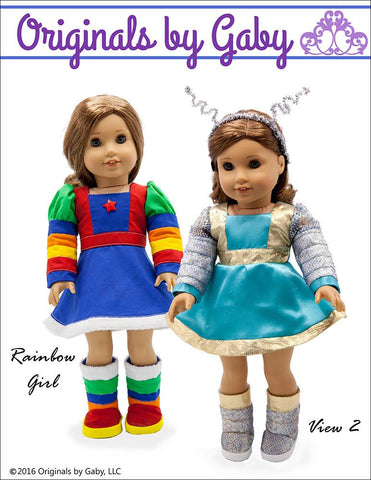 "60s Martian & Rainbow Girl 18"" Doll Clothes"