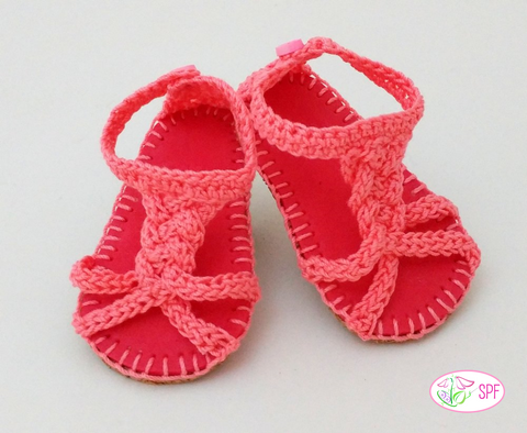 Martina Crocheted Braided Sandals Crochet Pattern