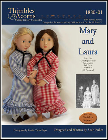 1880 Mary and Laura Dress Pattern for AGAT Dolls